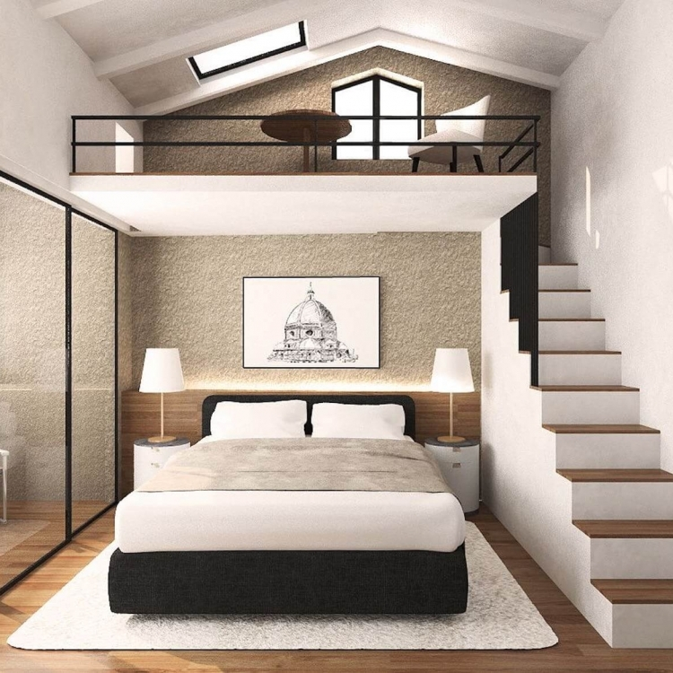Luxurious king sized bed rooms. Five star hotel quality linen. Access to terraces. Mezzanine offers stunning views over Florence.
