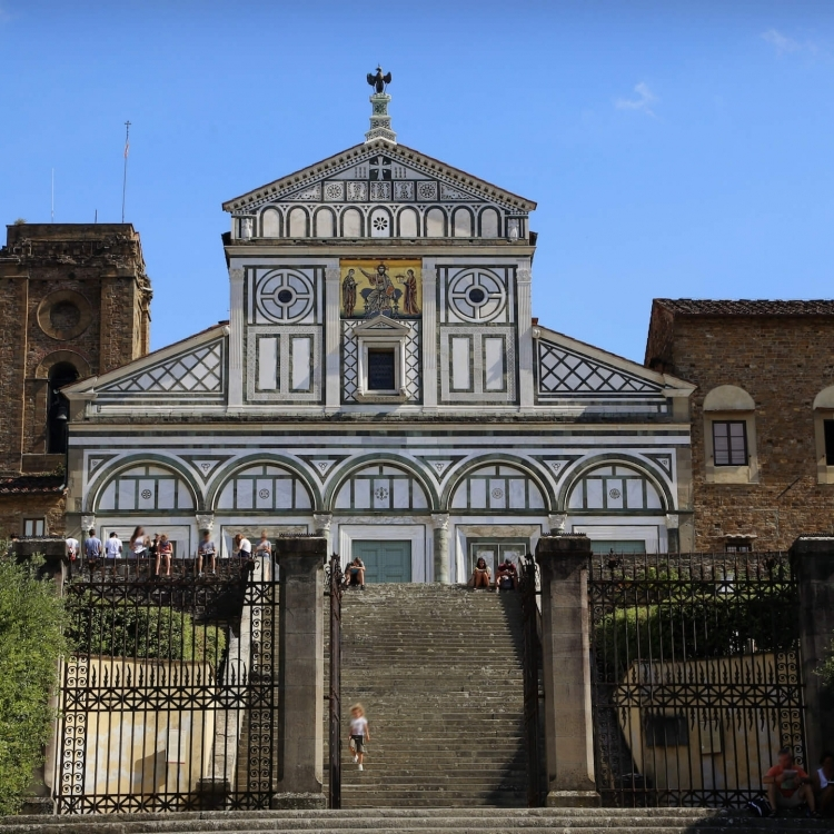 The San Miniato basilica is one of the finest Romanesque structures in Tuscany and one of the most scenic churches in Italy.
