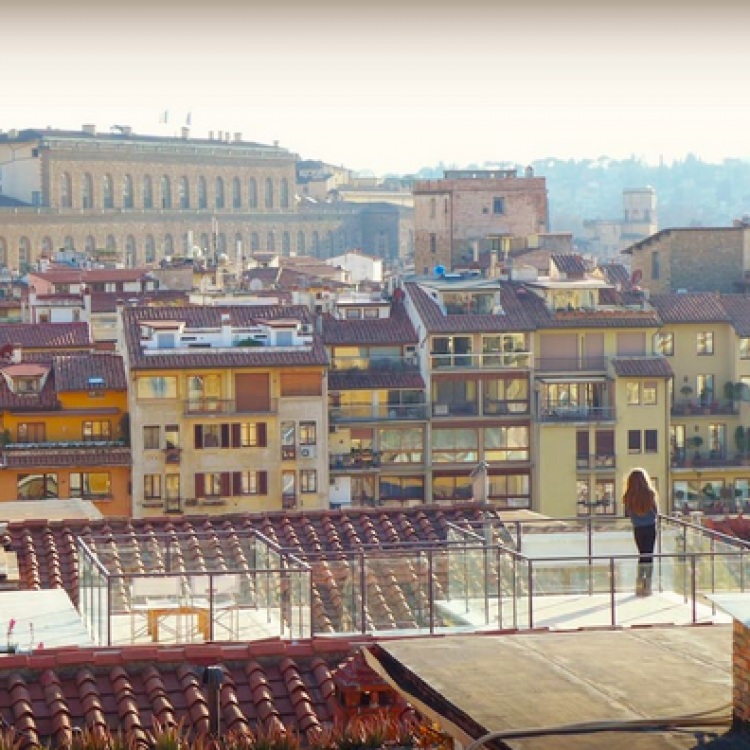 View onto our top terraces. Unbeatable views over the whole city.