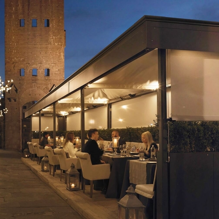 The San Nicolo neighborhood offers many restaurants including the Michelin starred Borgo Santo Pietro restaurant.